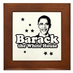 Barack the White House Framed Tile