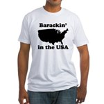 Barackin' in the USA Fitted T-Shirt