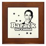 Barack the Casbah Framed Tile