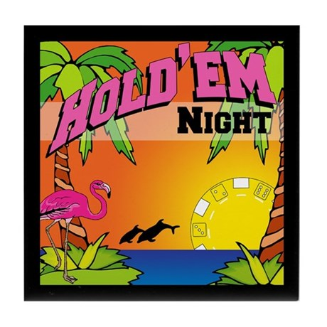 Tropical Poker Night Tile Coaster