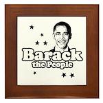 Barack the people Framed Tile