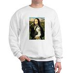 Mona Lisa & Siberian Husky Sweatshirt