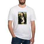 Mona Lisa & Siberian Husky Fitted T-Shirt