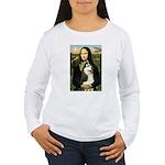 Mona Lisa & Siberian Husky Women's Long Sleeve T-S