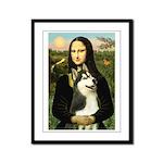 Mona Lisa & Siberian Husky Framed Panel Print
