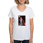Accolade and Husky Women's V-Neck T-Shirt