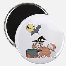 Shih Tzu Witch Halloween Magnet