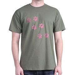 Pink Walk-On-Me Pawprints T-Shirt