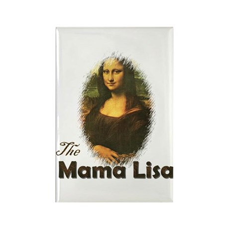 Mama Lisa Rectangle Magnet