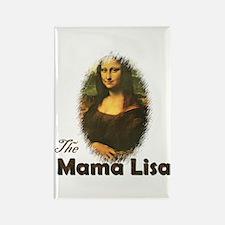 Mama Lisa Rectangle Magnet