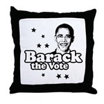 Barack the vote Throw Pillow