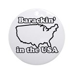 Barackin' in the USA Ornament (Round)