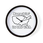 Barackin' in the USA Wall Clock