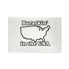 Barackin' in the USA Rectangle Magnet (100 pack)