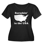 Barackin' in the USA Women's Plus Size Scoop Neck