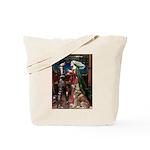 Tristan & Isolde Husky Tote Bag