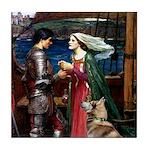 Tristan & Isolde Husky Tile Coaster