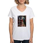 Tristan & Isolde Husky Women's V-Neck T-Shirt