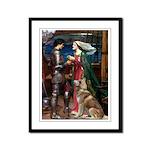 Tristan & Isolde Husky Framed Panel Print