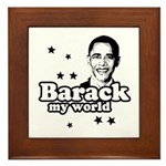 Barack my world Framed Tile