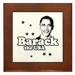 Barack the USA Framed Tile