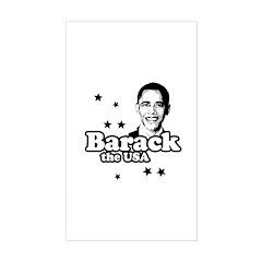 Barack the USA Rectangle Decal