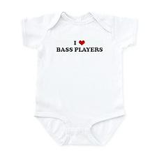 I Love BASS PLAYERS Infant Bodysuit