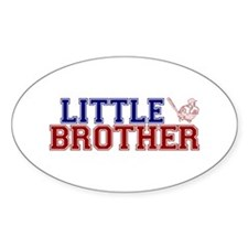Little Brother Baseball Oval Decal