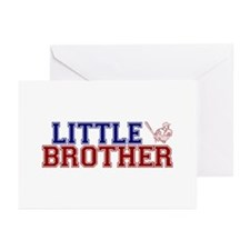 Little Brother Baseball Greeting Cards (Pk of 20)