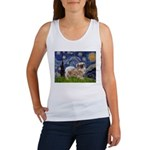 Starry / Tibetan Spaniel Women's Tank Top