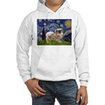 Starry / Tibetan Spaniel Hooded Sweatshirt