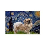 Starry / Tibetan Spaniel Rectangle Magnet