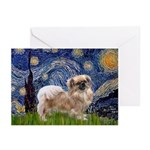 Starry / Tibetan Spaniel Greeting Cards (Pk of 20)