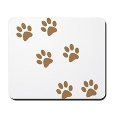 Brown Walk-On-Me Pawprints Mousepad