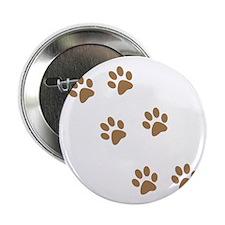 """Brown Walk-On-Me Pawprints 2.25"""" Button"""