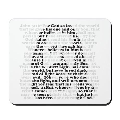 Jesus - John 3:16 - 18 Mousepad