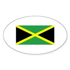 Jamaica Flag Oval Decal