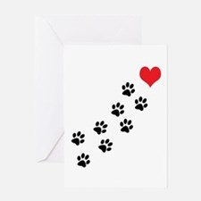 Paw Prints To My Heart Greeting Card