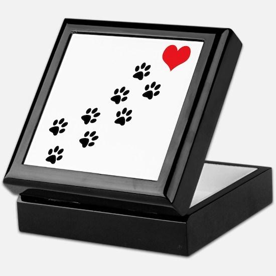 Paw Prints To My Heart Keepsake Box