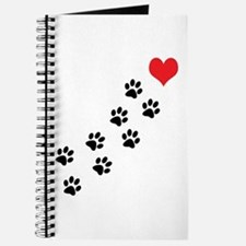 Paw Prints To My Heart Journal