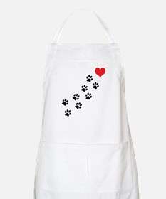 Paw Prints To My Heart Apron