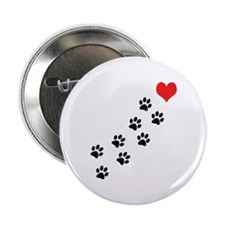 """Paw Prints To My Heart 2.25"""" Button"""