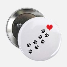 """Paw Prints To My Heart 2.25"""" Button (10 pack)"""