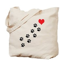 Paw Prints To My Heart Tote Bag