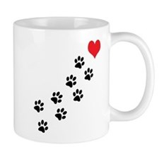 Paw Prints To My Heart Small Mug