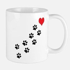 Paw Prints To My Heart Small Mugs