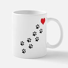 Paw Prints To My Heart Small Small Mug