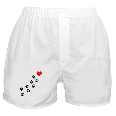 Paw Prints To My Heart Boxer Shorts