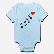 Paw Prints To My Heart Onesie