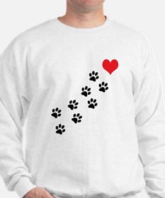 Paw Prints To My Heart Sweatshirt
